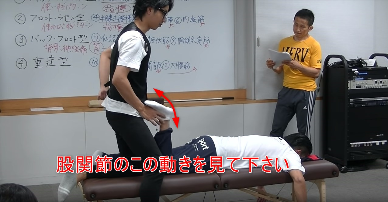 股関節のこの動きを見て下さい